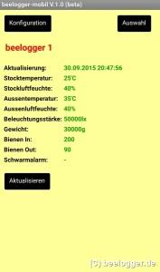 beelogger App Uebersicht