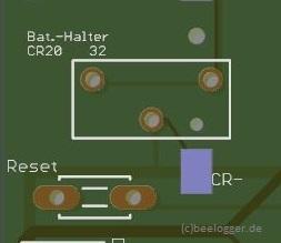 beelogger Solar CR1220 Halter