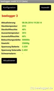 beelogger App Uebersicht Solar