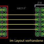 beelogger-SMD HX711 Platzierung