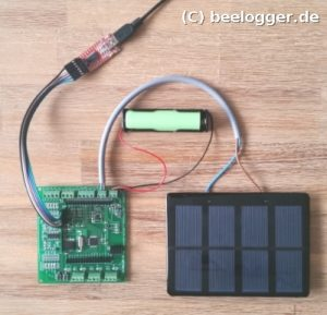 beelogger Solar Testsystem