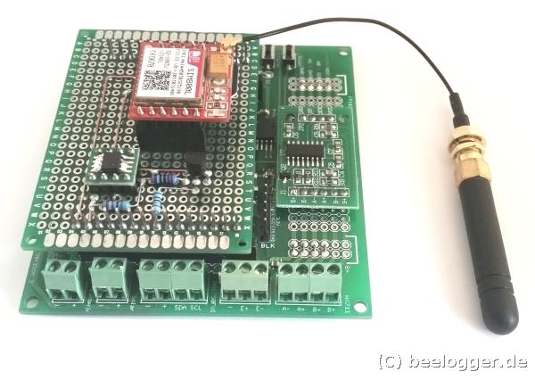 beelogger Solar GSM Seitenansicht