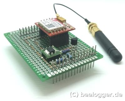 GSM-Shield mit SIM800L und Stummelantenne