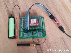 beelogger Solar GSM Test