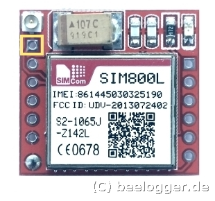 beelogger Solar SIM800L Antennenanschluss
