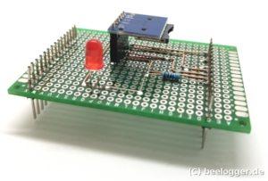 SD-Shield mit Lochrasterplatine für den beelogger-Solar