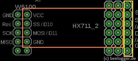 Einbauort zweiter HX711