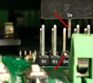 Steckkodierung Shield, Basisplatine mittels Pin D4