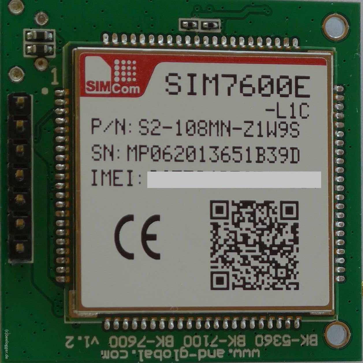 SIM7600E Breakout Bord Unterseite