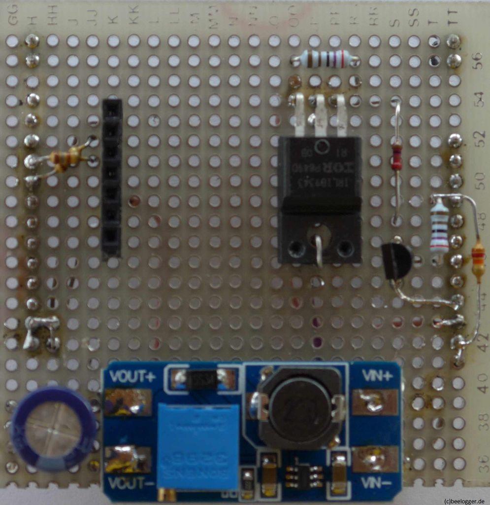 Prototyp LTE Shield mit Step-Up-Wandler