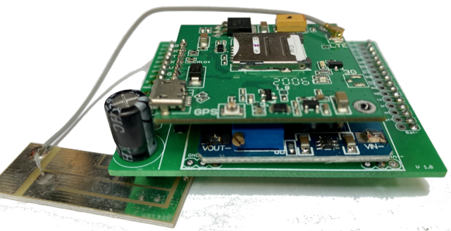 LTE-Shield für beelogger-Solar, SIM7600E gesteckt