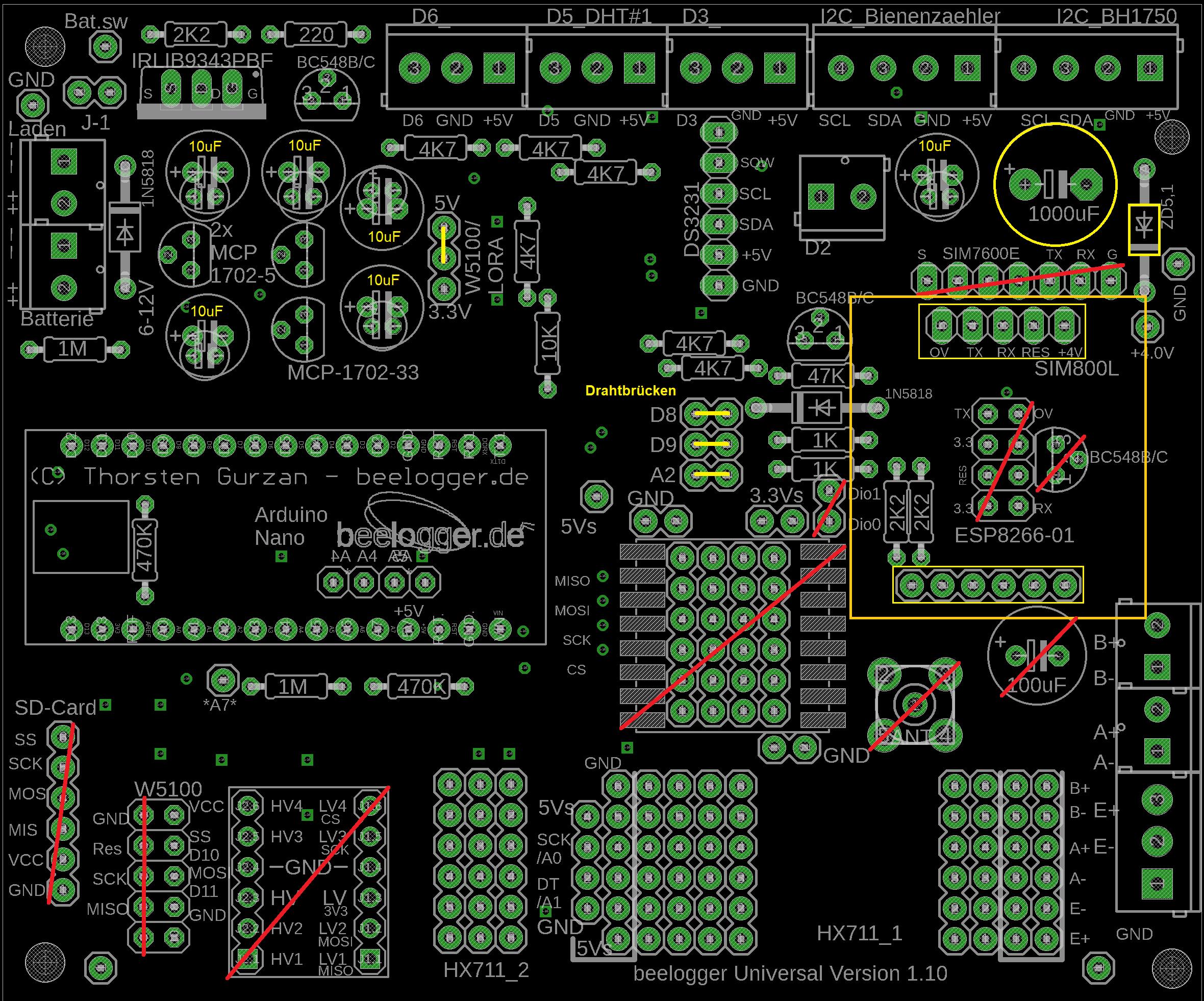 Universal für Bestückung SIM800L
