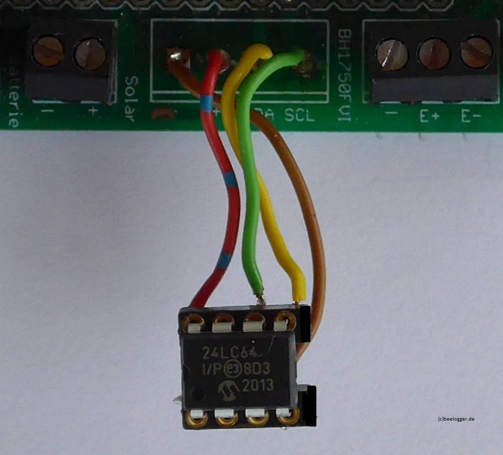 EE-Prom an BH1750 Anschluß der solar-Platine