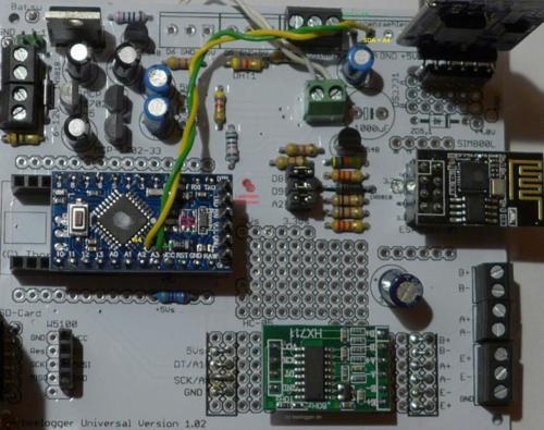beelogger Universal 1.02 mit Pro Mini, Prototyp